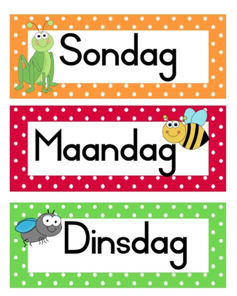 Home Decor Co Za Goggas Dae Van Die Week En Maande Van Die Jaar Teacha