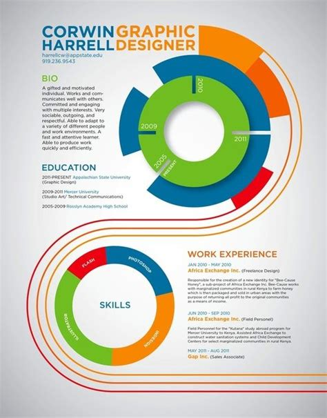 infographic resume resume design and graphics on