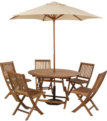 Garden Table and Chairs transparent