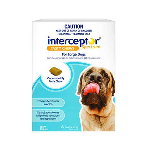 heartworm interceptor spectrum dogs buy interceptor spectrum for dogs heartworm and intestinal worm treatment
