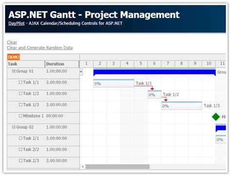 tutorial web application vb net asp net gantt project management c vb net sql server