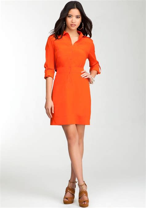 Bebeo More Beautiful Clothes From by Bebe Overlapped Shirt Dress Hsn Fallfashion My Style