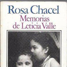 libro memorias de leticia valle memorias de leticia valle rosa chacel edito comprar en todocoleccion 49232890