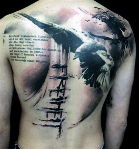 freedom tattoos for men top 50 best back tattoos for ink designs and ideas