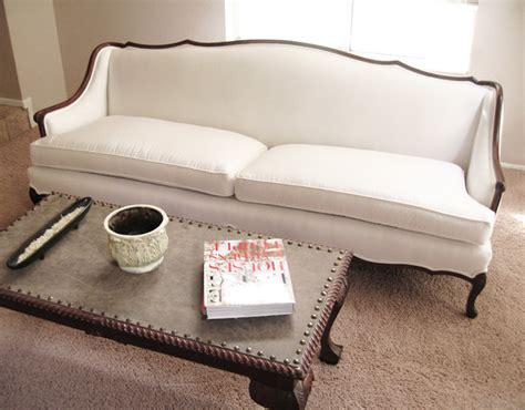 madebygirl  french provincial sofa re upholstered