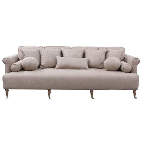 Rolled Arm Sofa by Merrimac Modern Classic Rolled Arm Light Sofa