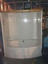 New Shower Bath Combo Tub Shower Combo Bath Tub White Oval Acrylic Tub