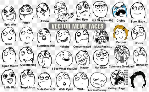 All Meme Faces Names - the gallery for gt all the troll faces names