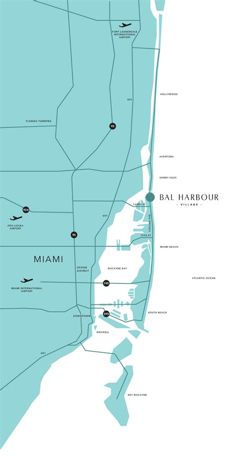 map of harbor florida bal harbour map and guide to hotels near south miami