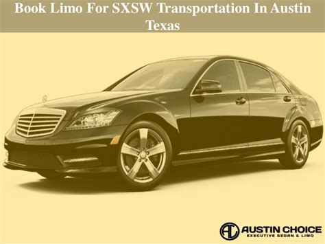 Book Limo by Book Limo For Sxsw Transportation In