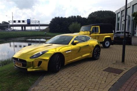 chrome land rover terrible gold chrome jaguar f type meets terrible gold