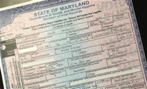 Maryland Marriage Records Certificate Confirms Died From 33 Week Botched