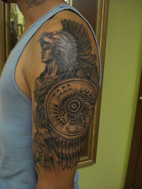 warrior tattoos my designs aztec warrior