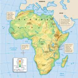 Map Of Africa Physical Features by 07 West African Art 08 Audio Resources 01 African Geography