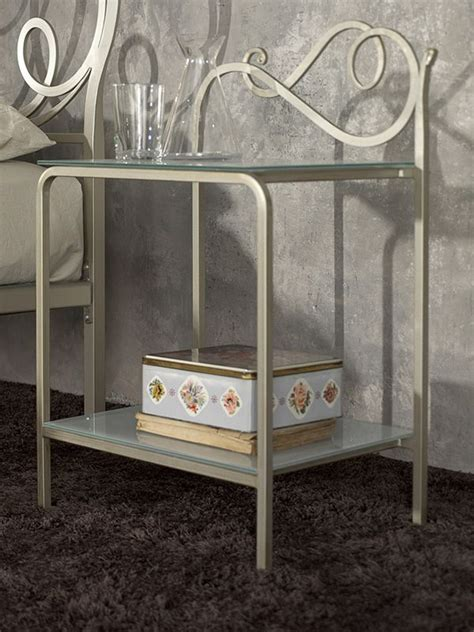 wrought iron bedside table toledo wrought iron bedside table with glass tops in