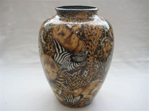 la vie crafted decoupage porcelain vase one offs
