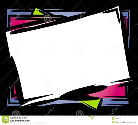 abstract tilted frame border stock  image