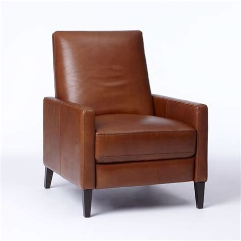 West Elm Sedgwick Recliner Review sedgwick leather recliner west elm dave living room chairs leather and chic