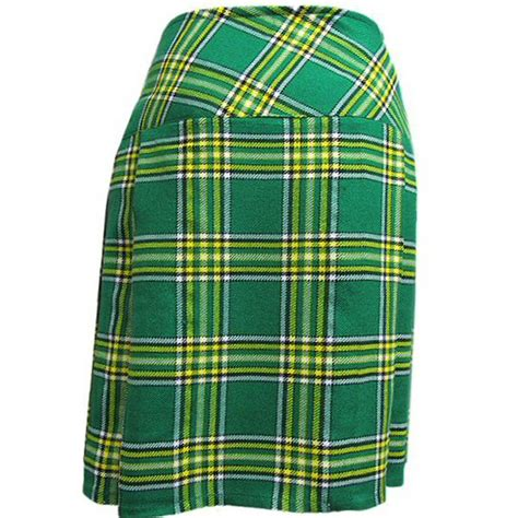 irish plaid irish plaid 20 quot scottish highland kilt skirt us4 us26