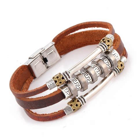 Leather Bracelet Handmade - handmade retro leather bracelet shop for accessories
