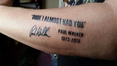 paul walker s tattoo 76 best tats images on ideas quotation