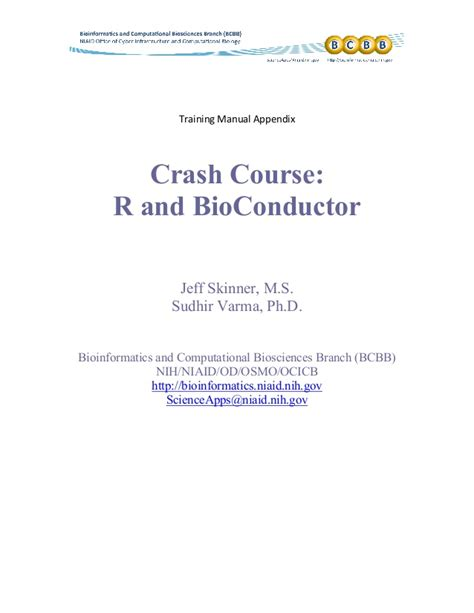 Mba Crash Course Philippines by Appendix Crash Course In R And Bioconductor