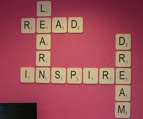 wall art design ideas  laugh love giant scrabble