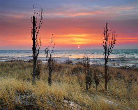 michigan nut photography michigan sunsets sunrises winter  sunrise  lake huron