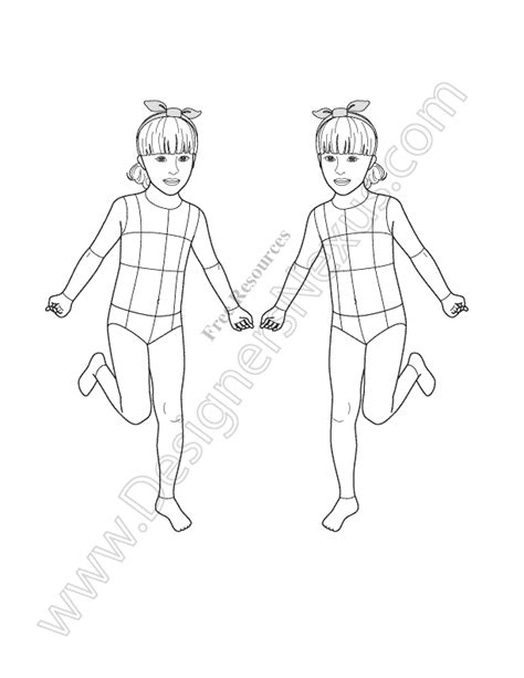 croquis template the gallery for gt child fashion templates