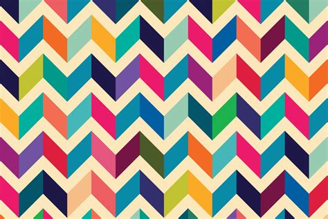Open Kitchen Dining Room Designs Multicoloured Zig Zag Pattern Wall Mural Muralswallpaper