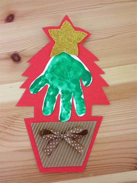 christmas tree crafts for preschool using handprint 1000 images about preschool craft ideas on gingerbread thumb prints