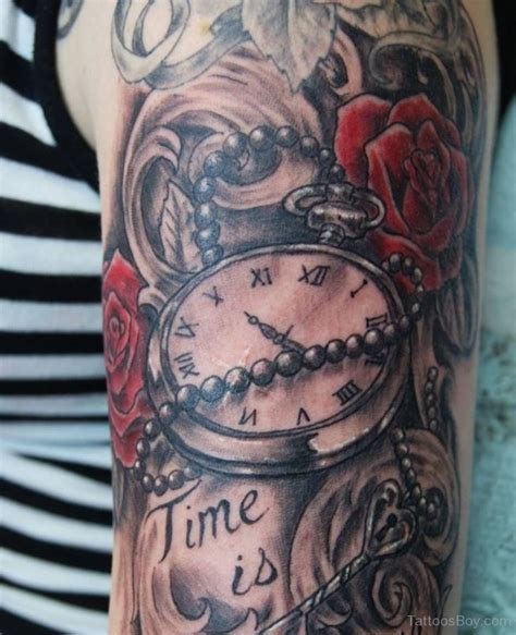 rose and watch tattoo pocket and designs pictures