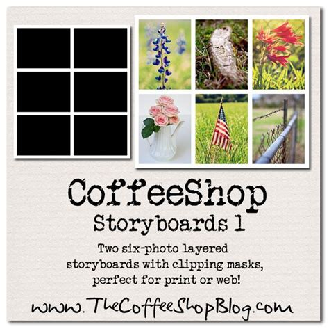 free storyboard templates for photoshop elements coffeeshop storyboards and frames for blogging templates