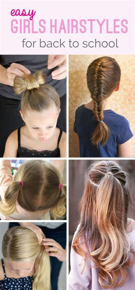 quick easy back to school hairstyles for medium long hair tutorial best 25 easy school hairstyles ideas on pinterest