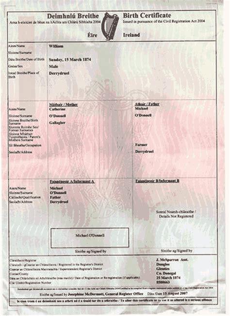 certificate template ireland birth certificate affidavit ireland choice image