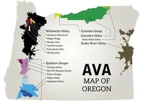 oregon wine map appellation pinot