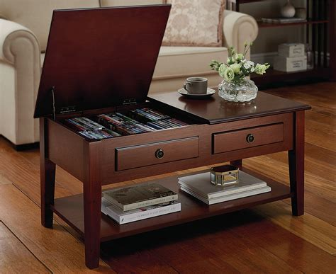 Storage Table For Living Room - storage coffee table home living room furniture dual lid
