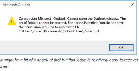 Caution for MS Outlook Users During Windows OS 10 Upgrade Access To Clipboard Denied Windows 10