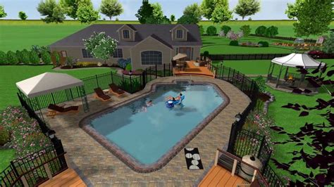Free Patio Design Software 2 realtime landscaping architect swimming pool youtube