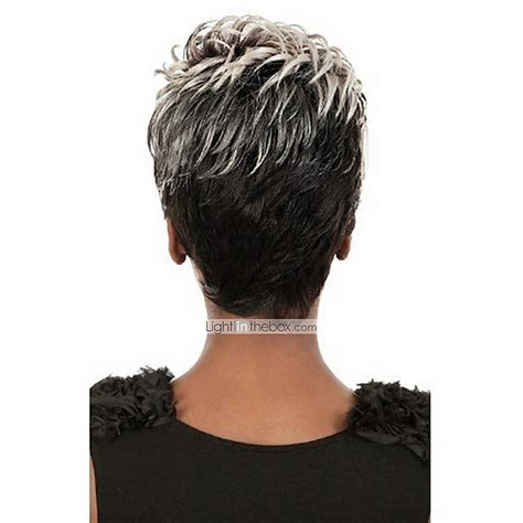 Gray Hair Pieces For American | african american wig peruca preta rubias perucas synthetic