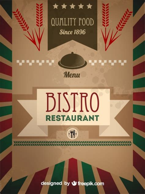 bistro menu template retro bistro menu template vector free