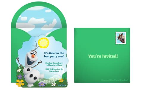 printable birthday invitations olaf plan a whimsical frozen birthday party