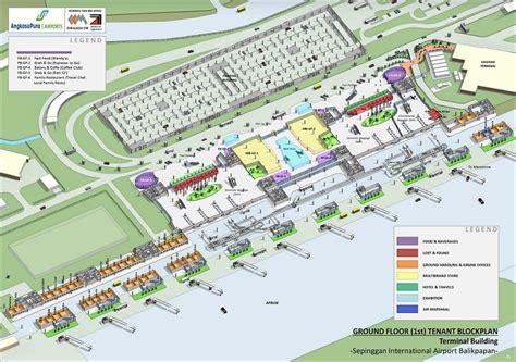 layout bandara adi sucipto denah terminal lantai 1 bandara balikpapan bandar udara