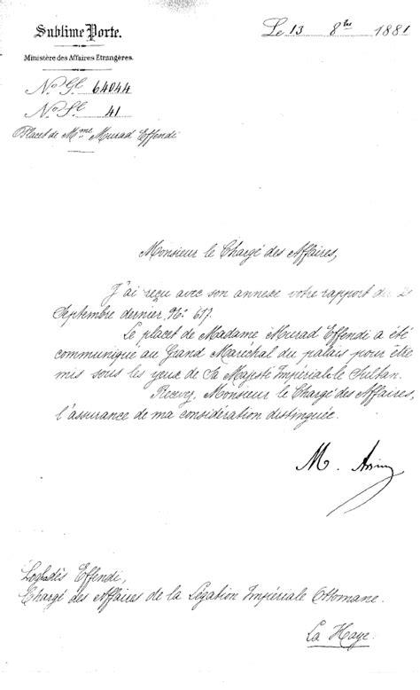 Ministre Ottoman le fran 231 ais langue diplomatique de la sublime porte le