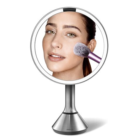 simplehuman lighted makeup vanity mirror simplehuman sensor lighted makeup vanity mirror 8 quot
