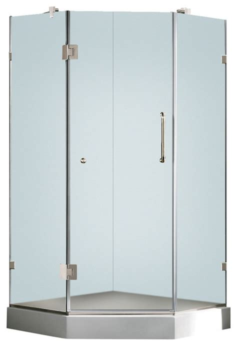 36 X 36 Frameless Neo Angle 3 8in Frosted Chrome Shower 36 Neo Angle Shower Doors