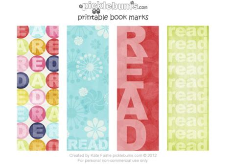 printable girly bookmarks 23 printable bookmarks perfect for the book lover tip junkie