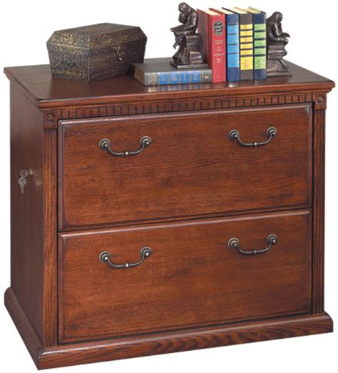 Oak Lateral File Cabinet 2 Drawer Two Drawer Locking Lateral Oak Office File Cabinet Ebay