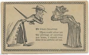 the flirtation cards 19th century men used to woo ladies