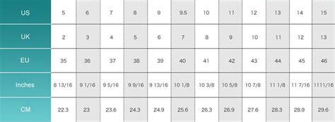 eu to us shoe size shoe sizing chart avheels